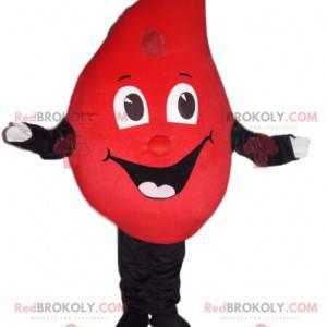 Red Drop Maskottchen mit einem großen Lächeln - Redbrokoly.com