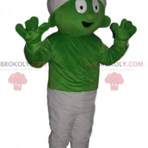 Meget komisk grøn schtroumph maskot - Redbrokoly.com