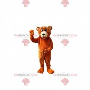 Velmi roztomilý maskot medvěda hnědého - Redbrokoly.com