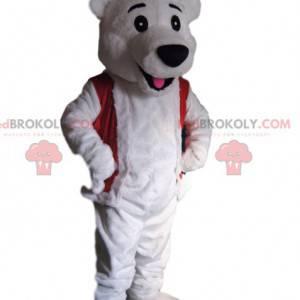 Maskot ledního medvěda s vánoční čepicí - Redbrokoly.com