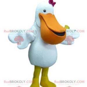Very cute pelican mascot with a fuchsia bow tie - Redbrokoly.com