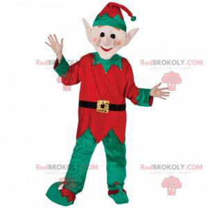 Leprechaun mascot with his green and red costume -