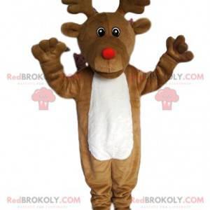 Mascotte renna con naso rotondo e rosso - Redbrokoly.com