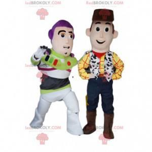 Woody og Buzz Lightyear maskot duo, fra Toy Story -