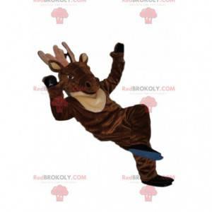 Majestætisk hjorte maskot med et smukt smil - Redbrokoly.com