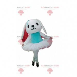 Weißes Kaninchenmaskottchen mit ihrem Tutu - Redbrokoly.com