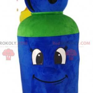 Niebiesko-zielona maskotka butla gazowa - Redbrokoly.com