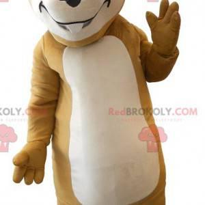 Mascot bastante marmota marrón - Redbrokoly.com