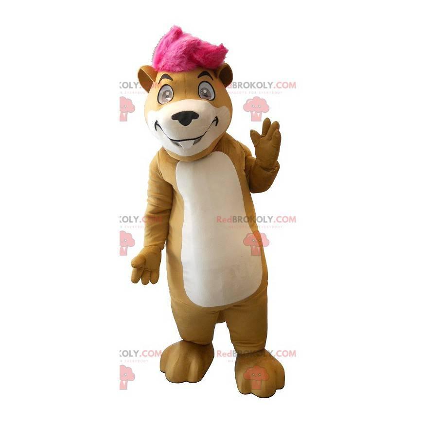 Maskotka ładny brązowy świstak - Redbrokoly.com