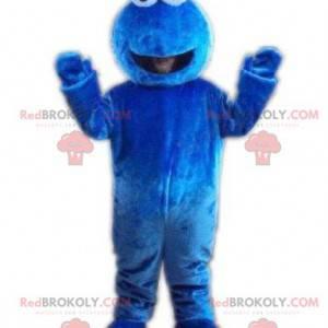 Maskotka niebieski potwór z wyłupiastymi oczami - Redbrokoly.com