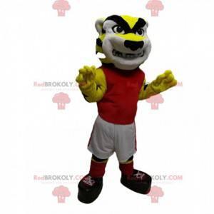 Terrifying tiger mascot in sportswear - Redbrokoly.com