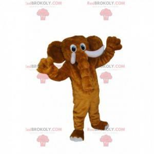 Prachtige en majestueuze bruine olifant mascotte -