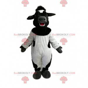 Velmi šťastný černobílý kráva maskot - Redbrokoly.com