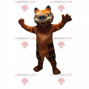 Mascote Garfield, o gato malhado muito ganancioso -