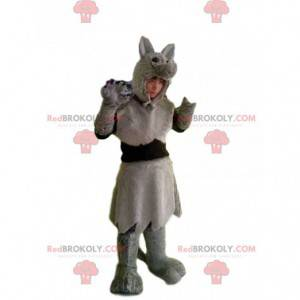 Graues Wolfskostüm mit schönem Fell - Redbrokoly.com