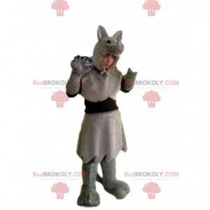 Kostium szarego wilka z pięknym futrem - Redbrokoly.com