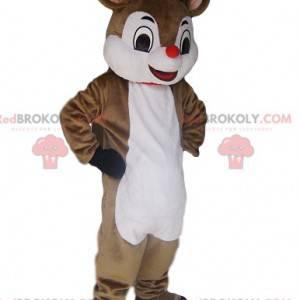 Mascote de rena muito charmoso com seu mini focinho vermelho -