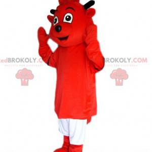 Red Imp maskot med hvite shorts - Redbrokoly.com