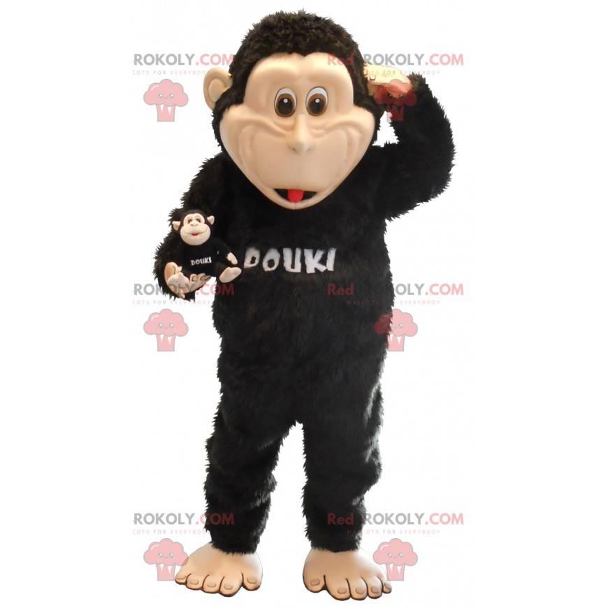 Stor svart ape maskot - Redbrokoly.com