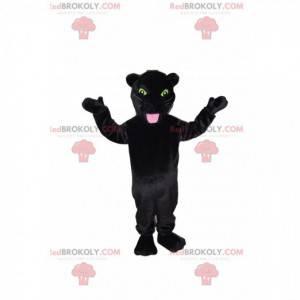 Schwarzes Panther-Maskottchen mit schönen gelben Augen! -