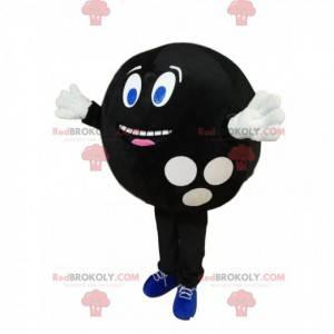 Bardzo wesoła maskotka czarna kula do kręgli - Redbrokoly.com