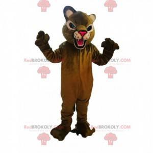 Divoký maskot puma s fuchsiovou tlamou - Redbrokoly.com