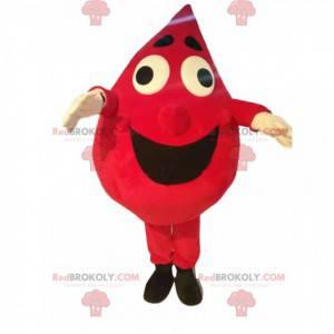 Very jovial red drop mascot - Redbrokoly.com