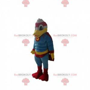 Donald maskot med superhelt outfit - Redbrokoly.com