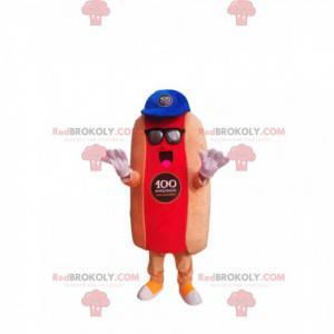 Hot dog mascot with a blue cap - Redbrokoly.com