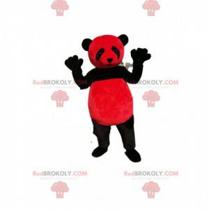 Rotes und schwarzes Panda-Maskottchen - Redbrokoly.com