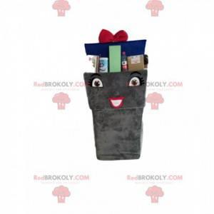 Recycling trash mascot with a blue bow tie - Redbrokoly.com