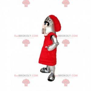 Riddermascotte met zijn helm en pantser - Redbrokoly.com