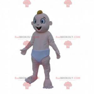 Mascotte divertente del bambino con i piccoli denti -