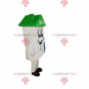 Lächelndes Hausmaskottchen mit dem grünen Dach - Redbrokoly.com