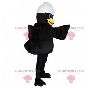 Mascot Calimero, el pato negro con cáscara de huevo -