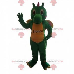 Green and yellow dragon mascot - Redbrokoly.com