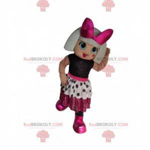 Malá dívka maskot se stříbrným účesem - Redbrokoly.com
