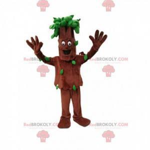 Tree mascot with nice green foliage - Redbrokoly.com