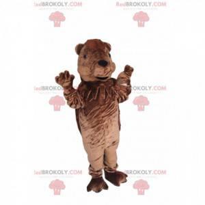 Very playful brown bear mascot - Redbrokoly.com