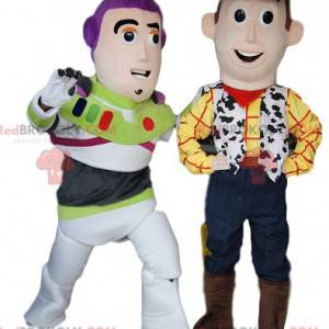 Mascots of Woody and Buzz Lightyear, from Toy Story -