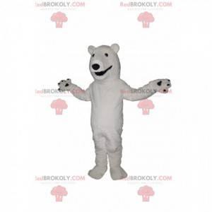 Maskot ledního medvěda se širokým úsměvem - Redbrokoly.com