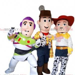 Jessie, Buzz Lightyear a Woody maskotové trio z Toy Story -