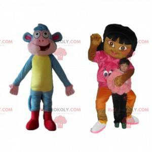 Das Maskottchen-Duo Dora und Shipper von Dora the Explorer -