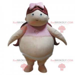 Fat jente maskot med truse og bh - Redbrokoly.com