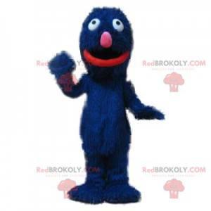 Very playful hairy blue monster mascot - Redbrokoly.com
