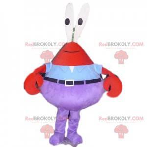 Kaptajn Krabs maskot, den berømte SpongeBob krabbe -