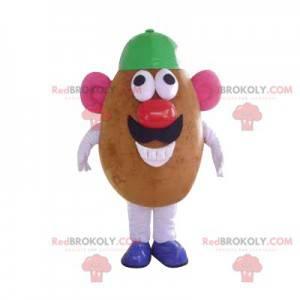 Mascote Sr. Batata com uma tampa verde - Redbrokoly.com