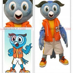 Uggla maskot klädd i sportkläder - Redbrokoly.com