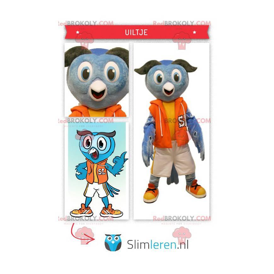 Ugle maskot kledd i sportsklær - Redbrokoly.com