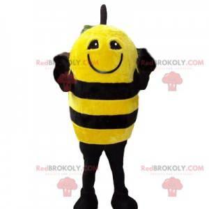 Mascote abelha amarela e preta engraçada - Redbrokoly.com